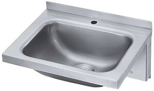 Contacto Handwaschbecken Edelstahl 18 10 Waschbecken Wandmontage