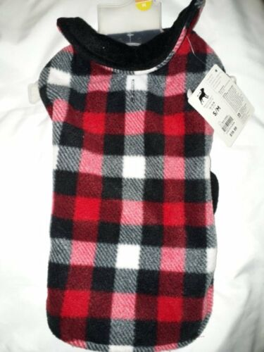 Good2Go Warm and Cozy Reversible Jacket for Dog Black Red White Check