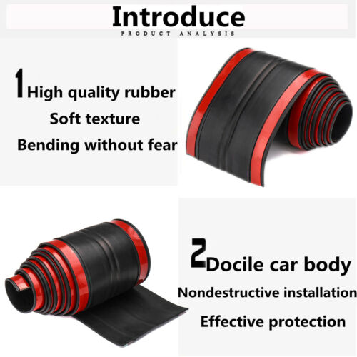 170cm Universal Rubber Truck Bed Tailgate Gap Cover Filler Seal Shield Lip Cap