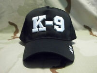 Law Enforcement K-9 Black Adjustable Embroidered Hat Police
