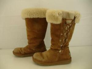 4a4bbb03415 Womens 6 M Ugg Australia Upside Chestnut Brown Tan Sheepskin ...