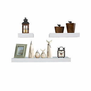 White wood wall shelves and ledges floating decorative for Wall shelves and ledges