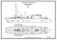 TIONG SING. Kanonenboot. Bauplan