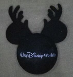 ff4cf057349a6 Image is loading DISNEY-WDW-MICKEY-WITH-REINDEER-ANTLERS-CHRISTMAS-ANTENNA-