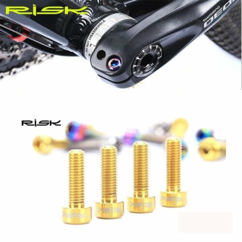 6Pcs Risk Bike Titanium Alloy Screws Titanium M5x16//18mm TC4 Stem Seatpost Bolts