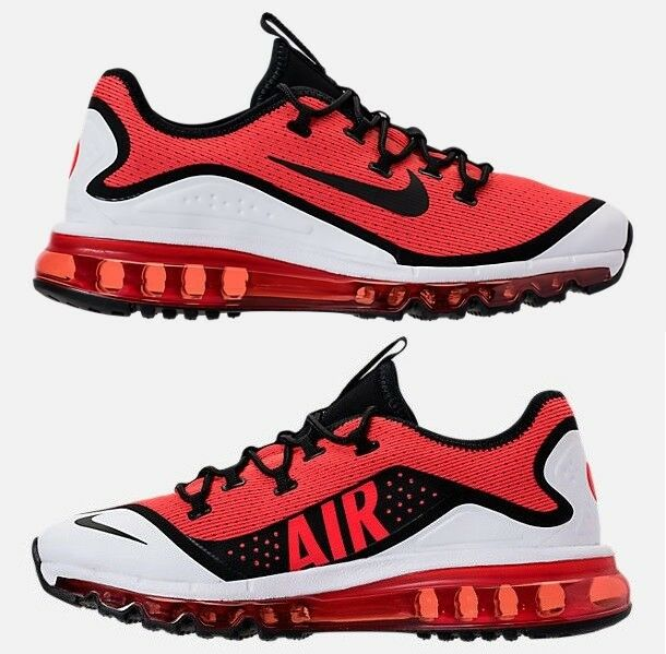NIKE AIR MAX MORE MEN's RUNNING HABAblack RED - BLACK - WHITE AUTHENTIC NEW SIZE