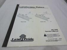 Land Pride 302 186m Operators Manual Rotary Cutter Lr2584 Lr2596 Lr3584 Lr3596