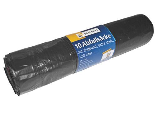 10 Müllsäcke 120 l mit Zugband extra stark Müllsack Sack Müllbeutel 106