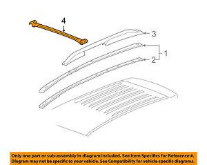 Pontiac Gm Oem 06 09 Torrent Roof Rack Rail Luggage Carrier Cross Rail 25778987 Ebay