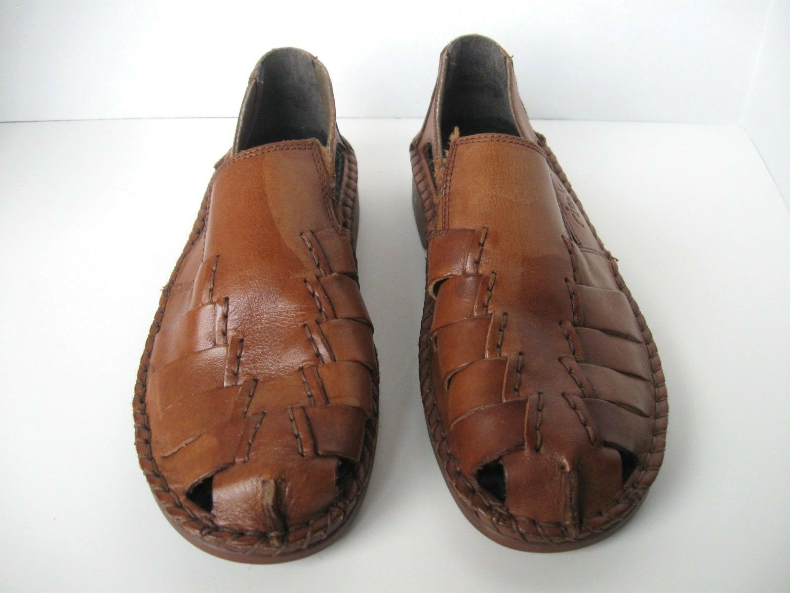Rieker Antistress Schuhes Größe 36 Braun Leder Open Weave Summer  #1132 S