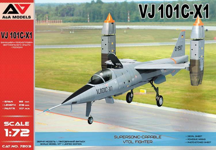A & A Models 1 72 VJ-101C-X1 Supersonic-Capable VTOL Fighter