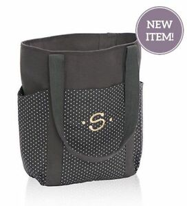Bn Thirty One Go To Tote Utility Shoulder Bag In City Charcoal Swiss Dot 31 Gift Ebay