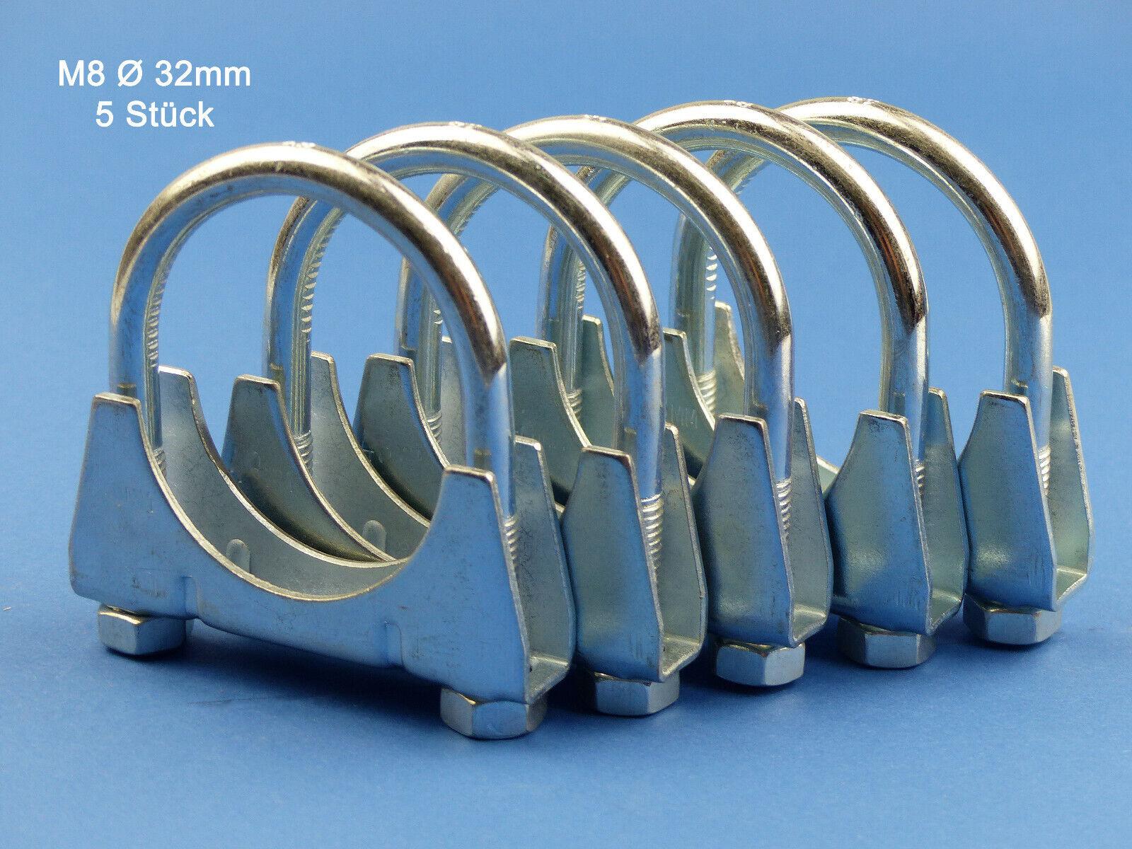 Schelle M8 Ø 32 mm 10St. Auspuffschelle Montageschelle für Abgasanlage