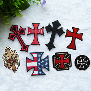 feba9d4f3dc Jesus Cross Embroidered Sew On Iron On Patch Badge Clothes Fabric ...