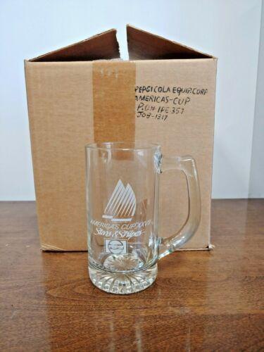 AMERICA/'S CUP XXVII STARS /& STRIPES GLASS MUG SET OF FOUR Details about  /NOS ORIGINAL