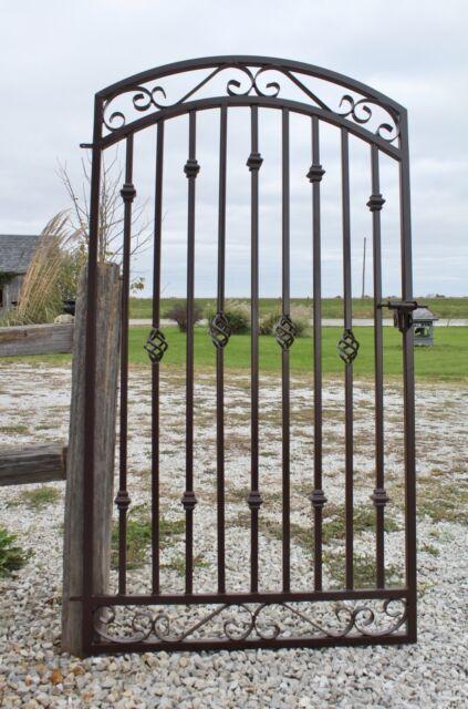 6/'t x 3/'w Handmade Donovan Yard Entrance Wrought Iron Gate