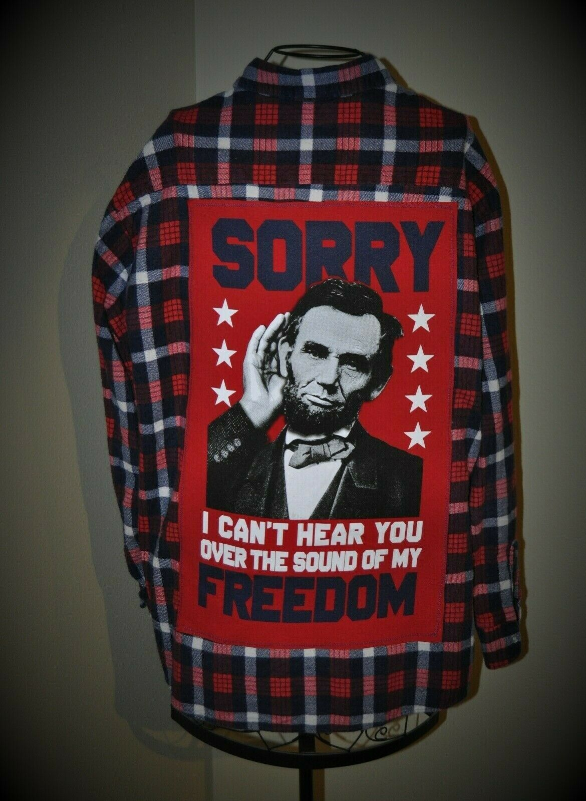 Shirt xlarge abraham lincoln sound of freedom republican 24.5 inches pit 2 pit