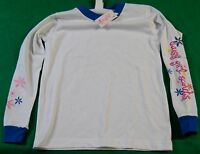Daisy Girl Scouts Long Sleeve White Blue Shirt Size L/xl With Tag Not Worn