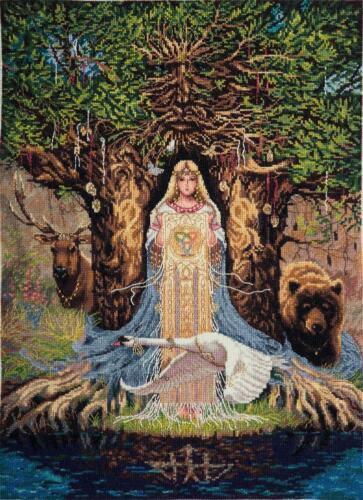 Panna Counted Cross Stitch Kit SO-1896 Veda Amulette SWAN MYTHOLOGIE Sagesse