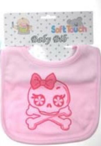Pink Blue Skull /& Crossbones Baby Bib// Soft touch// Boys// Girls// Pirate