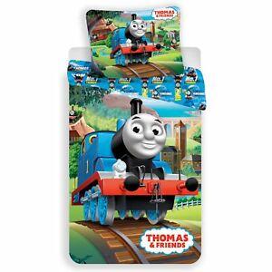 Thomas-amp-Friends-Piste-Set-Housse-de-Couette-Simple-Coton-Literie-Euro-Taille