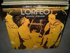 JURGENS / MONTEVERDI l'orfeo ( classical ) 3lp box archiv LTD 174