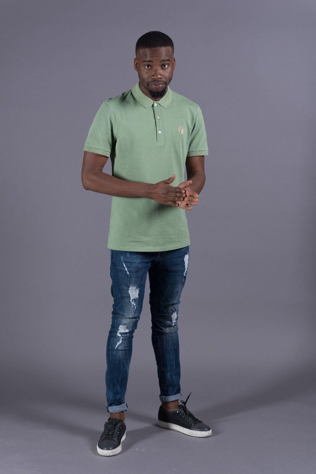 Genuine men's Versace Collection Baroque print polo shirt V800634S-VJ00068-V1536
