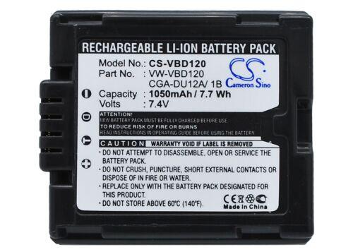 Li-ion batería para Panasonic Nv-gs50 Nv-gs10eg Nv-gs75b Vdr-d250 Pv-gs35 nv-gs25