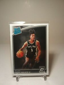 2018-19 Panini Donruss Optic Lonnie Walker IV Rated Rookie Base RC Spurs