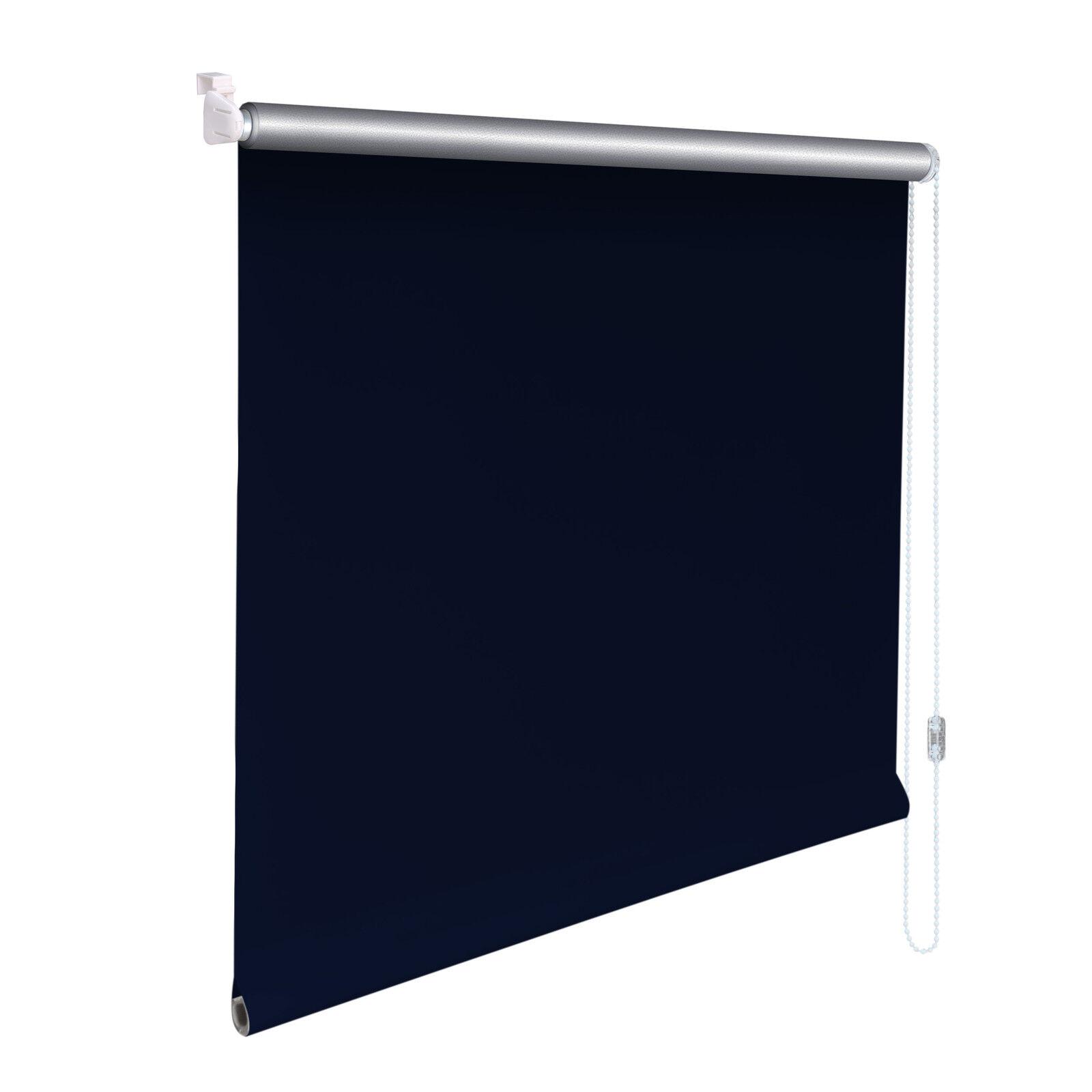 Minirollo Klemmfix THERMO Rollo Verdunkelungsrollo - Höhe 160 cm blau | Fein Verarbeitet