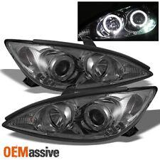 Fits 2002 2006 Toyota Camry Smoke Halo Projector Led Headlights Light Lamp Lhrh