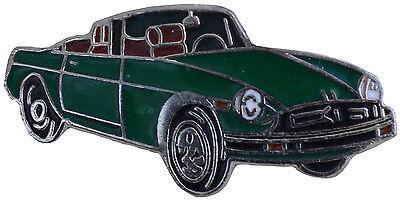 MG MGB Rubber bumper car cut out lapel pin Green body