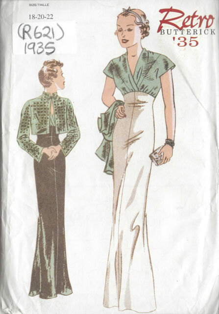 Nähen Vintage 1935 Kleid & Jacke Schnittmuster R621 | eBay