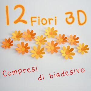 Fiori 3d Carta.12 Fiori 3d Di Carta Per Arredare Con Stile Due Colori Arancio