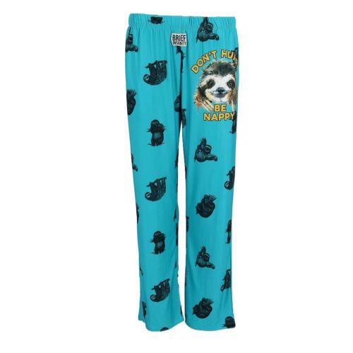 New Brief Insanity Men/'s Sloth Don/'t Hurry Be Happy Lounge Pajama Pants