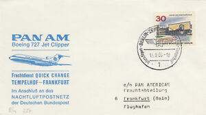 14314-Germany-Pan-Am-Cover-Berlin-Tempelhof-Frankfurt-15-Sept-1966