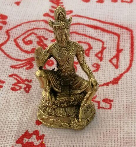 Statue Jatukam Ramathep LP Yant Fetish Millionaire protection Life Thai Amulet
