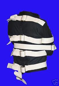 Black Straight Jacket  restraint med.-ALL SIZES AVAIL.