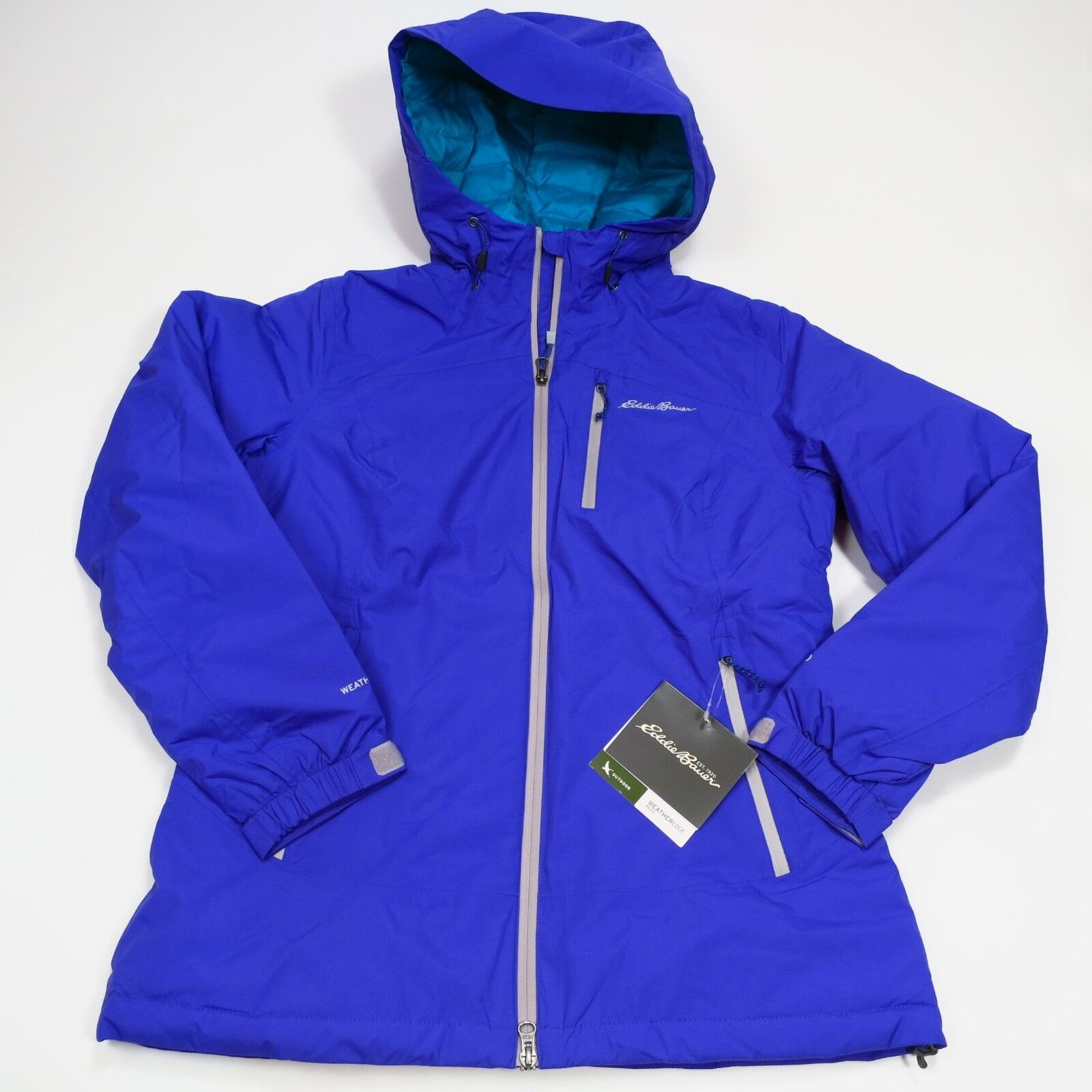 Women's Eddie Bauer Storm Microlight 700 Fill Down Medium bluee NWT