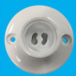 2x Plástico Blanco GU10 Foco Fijación de Techo Lámpara Bombilla Soporte