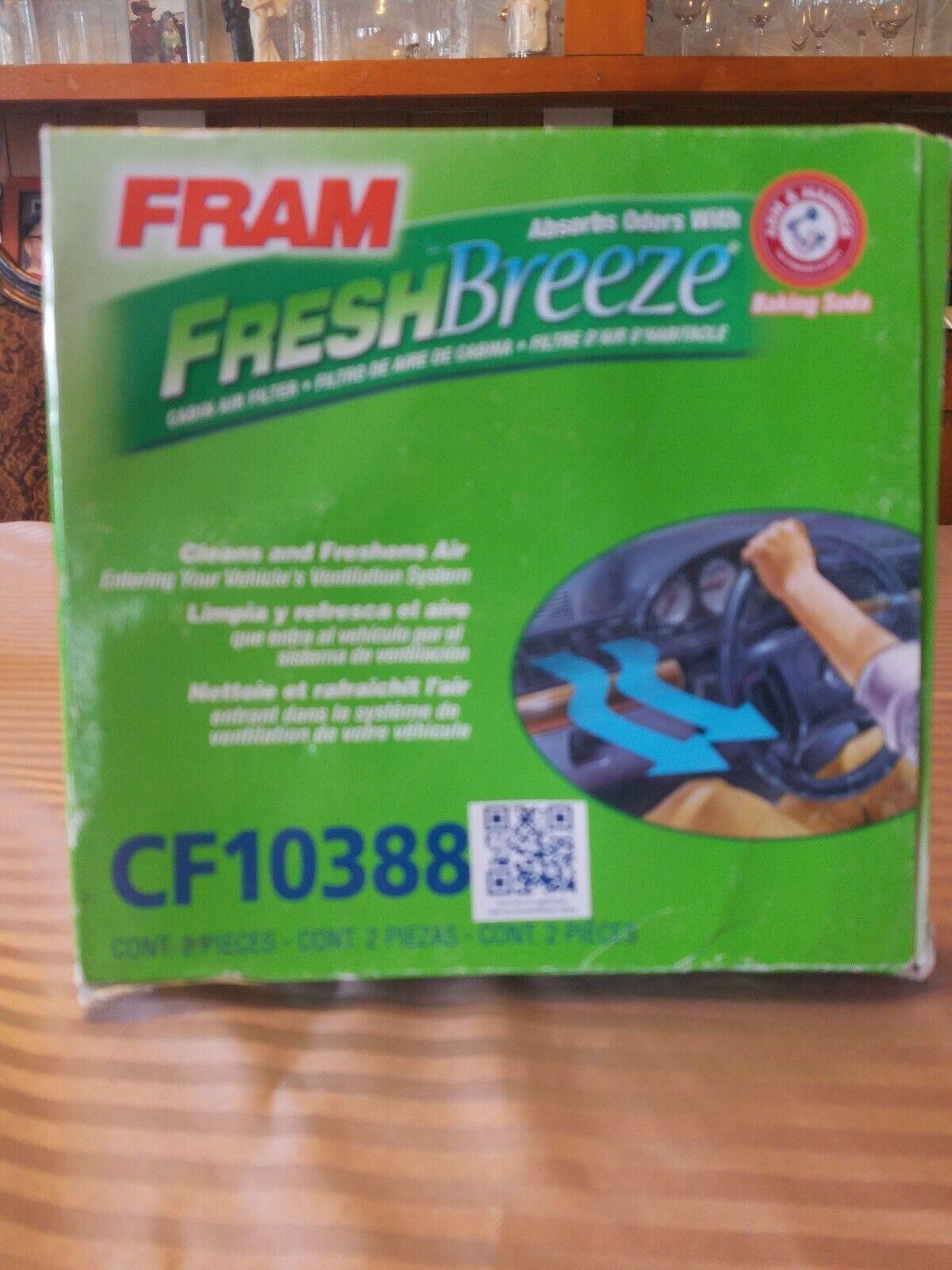 FRAM CF10388 Fresh Breeze Cabin Air Filter with Arm /& Hammer