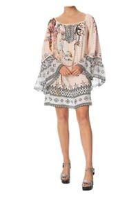 Camilla-Kindred-Skies-A-Line-Dress-w-Ruffle-Sleeve-Sz-S-BNWT-RRP-679