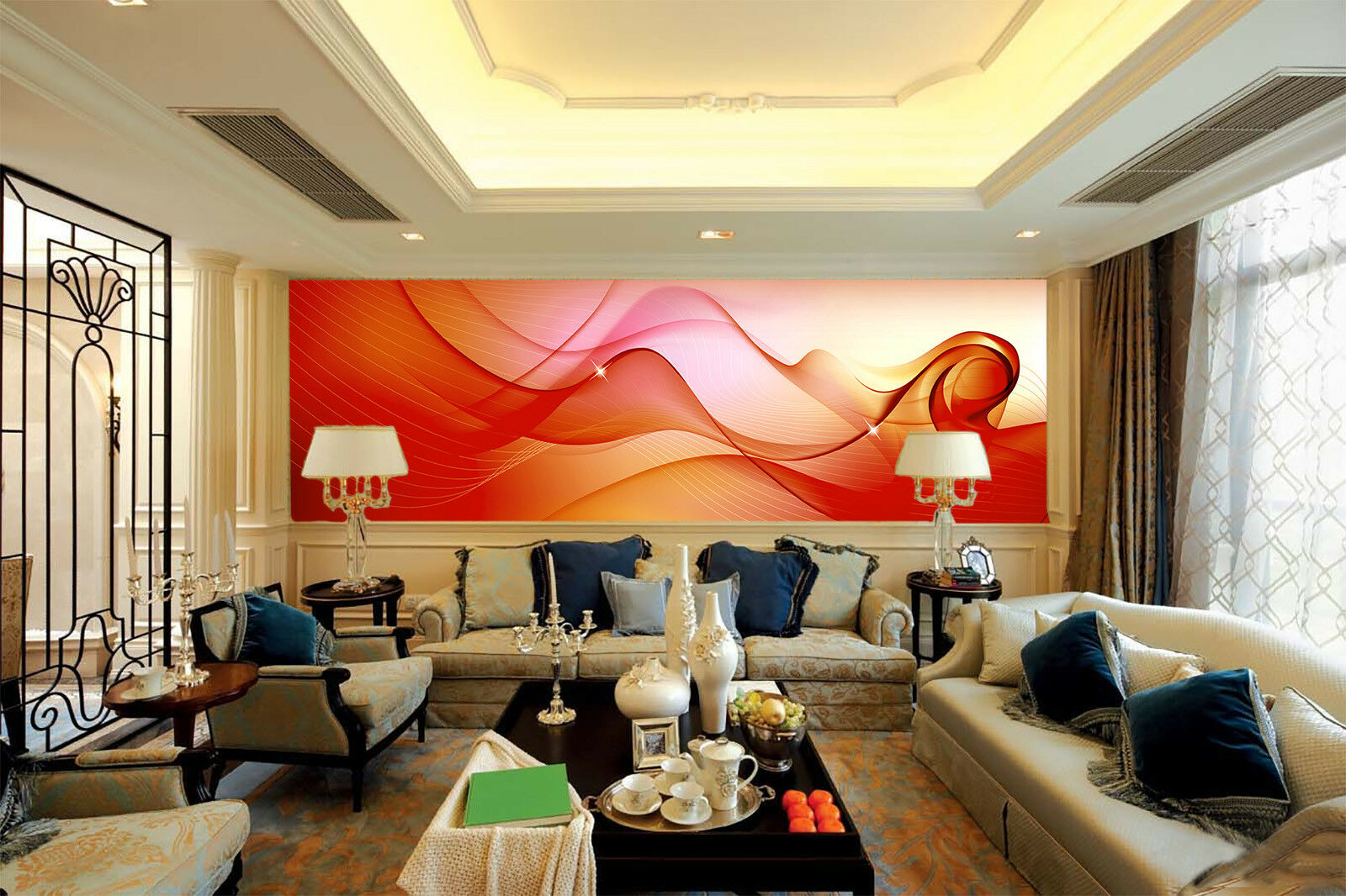 3d Floating Abstract 74 wandpaper Mural wandpaper wandpaper Picture Family De Summer