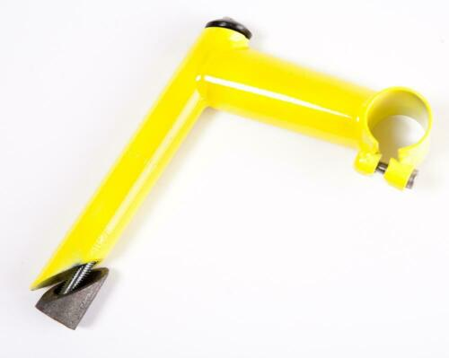"""YELLOW 1/"""" Bike HANDLEBAR Quill STEM with LONG REACH /& 25.4m Clamp 100mm"""