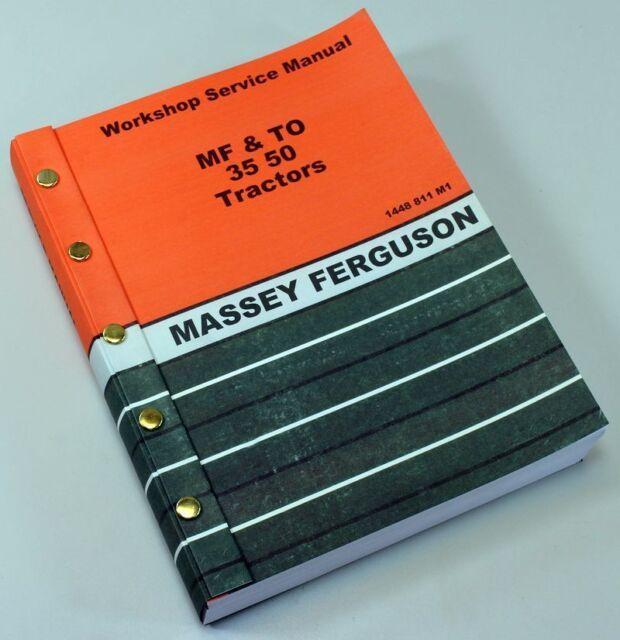 MASSEY FERGUSON TO35 GAS TRACTOR SERVICE REPAIR SHOP MANUAL TECHNICAL WORKSHOP