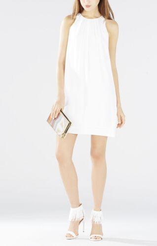White m640a M Bcbg shift Nieuwe maat mouwloze plisse Lynzie jurk Lmq63f44 fTqqAx5Bw