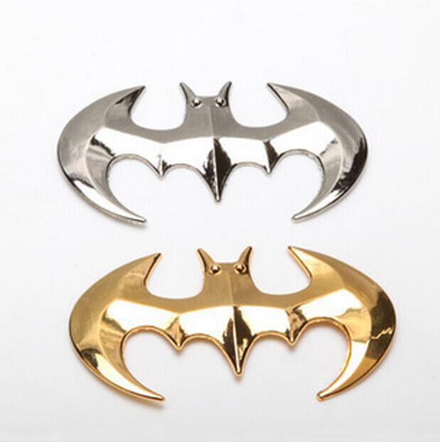 Fashion Design 3D Metal Batman Silver Stickers Badge Graphics Decal Car Sticker
