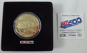 2017-Indianapolis-500-101ST-Running-amp-IndyCar-Gold-Bronze-Event-Collector-Coin