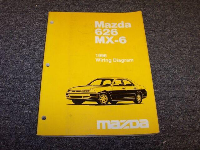 1996 Mazda 626 Sedan  U0026 Mx6 Coupe Electrical Wiring Diagram