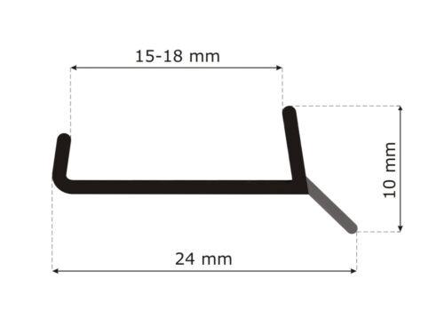 1,5-12m KÜCHENSOCKEL Sockel Dichtung  erneuern Dichtprofil Abdichtungsprofil GR5